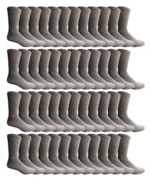 36 Wholesale Yacht & Smith Men's Cotton Crew Socks Gray Size 10-13 Bulk Pack