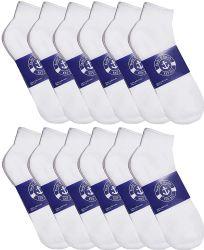 72 Wholesale Yacht & Smith Mens Cotton White No Show Ankle Socks, Sock Size 10-13