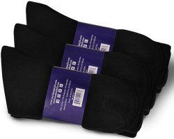 72 Wholesale Yacht & Smith Mens Cotton Black No Show Ankle Socks, Sock Size 10-13