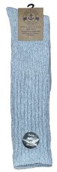 120 Wholesale Yacht & Smith Mens Heavy Cotton Slouch Socks, Solid Heather Gray