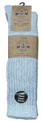 96 Wholesale Yacht & Smith Womens Heavy Cotton Slouch Socks, Solid Heather Gray