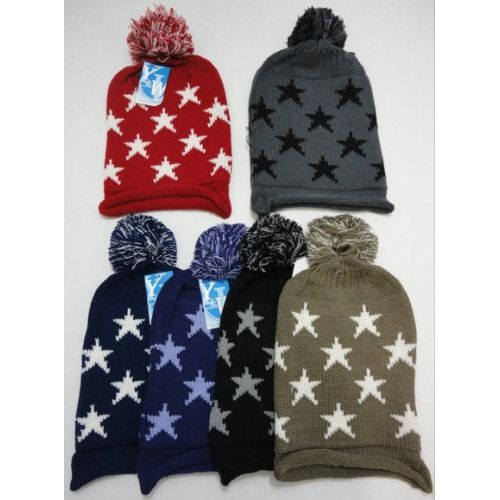 Wholesale Deal On Knitted Hat with Stars - at - wholesalesockdeals.com fe7648f94163