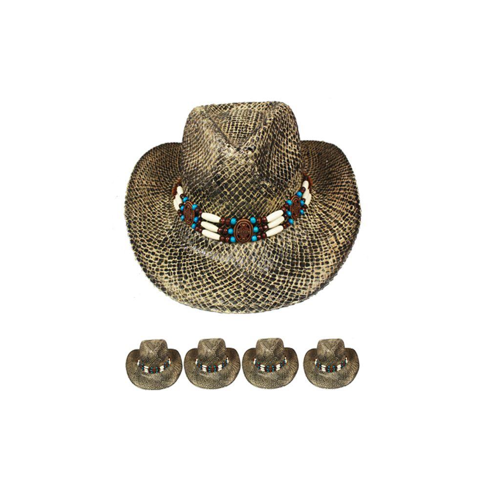 4a1d0ac128738 24 Wholesale BLACK STRAW COWBOY HAT - at - wholesalesockdeals.com