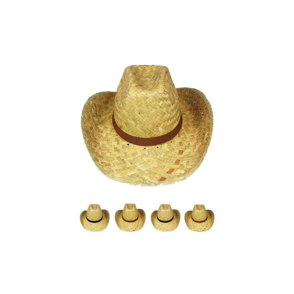 0e8ddb6eed6e0 36 Wholesale Adult Straw Cowboy Hat Assorted Ribbon - at -  wholesalesockdeals.com