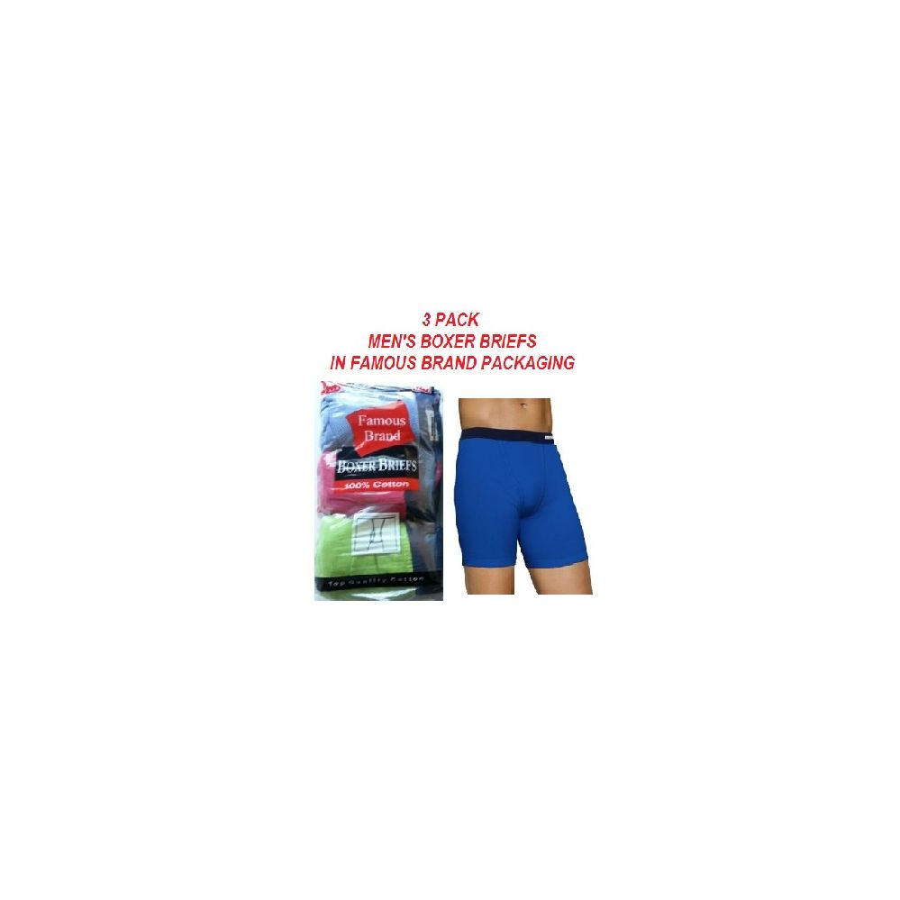 20d8de7c2a20 48 Wholesale FRUIT LOOM - HANES 3 PACK MEN'S BOXER BRIEFS / FAMOUS BRAND  PK. - at - wholesalesockdeals.com
