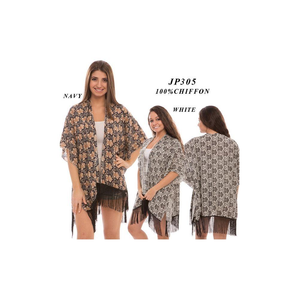 Wholesale Deal On Ladies Printed Sheer Cardigan - at ...