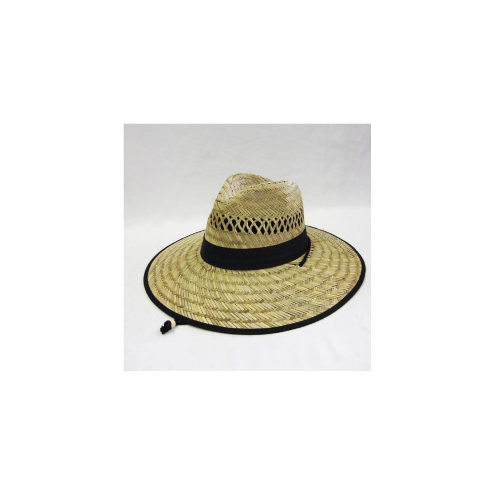 Wholesale Deal On Mens Straw Hat in Beige with Black Trim - at -  wholesalesockdeals.com 3c6edb71ffd