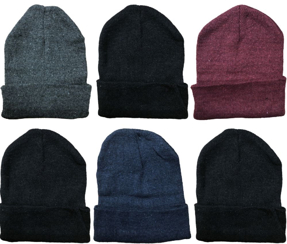 8a16d32c8d8 Wholesale Deal On 6 Pieces Of excell Mens Womens Warm Winter Hats In  Assorted Colors