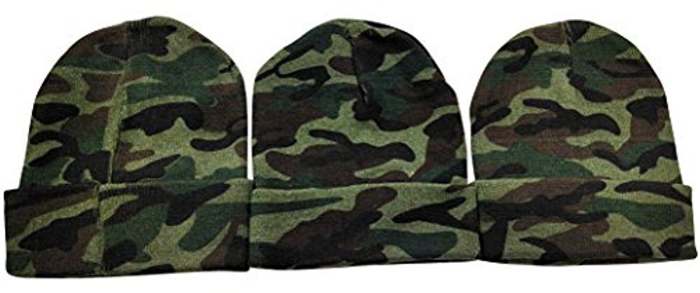 ebb62985182 Wholesale Deal On 3 Piece excell Camoflauge Military Camo Winter Toboggan  Hunter Hats