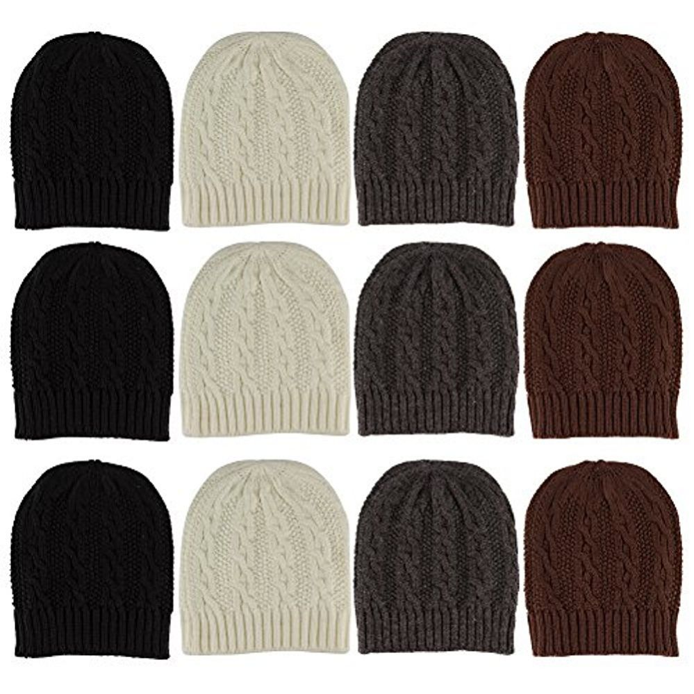 900ef39752c Wholesale Deal On 12 Units Of excell Mens Womens Warm Winter Hats In  Assorted Colors