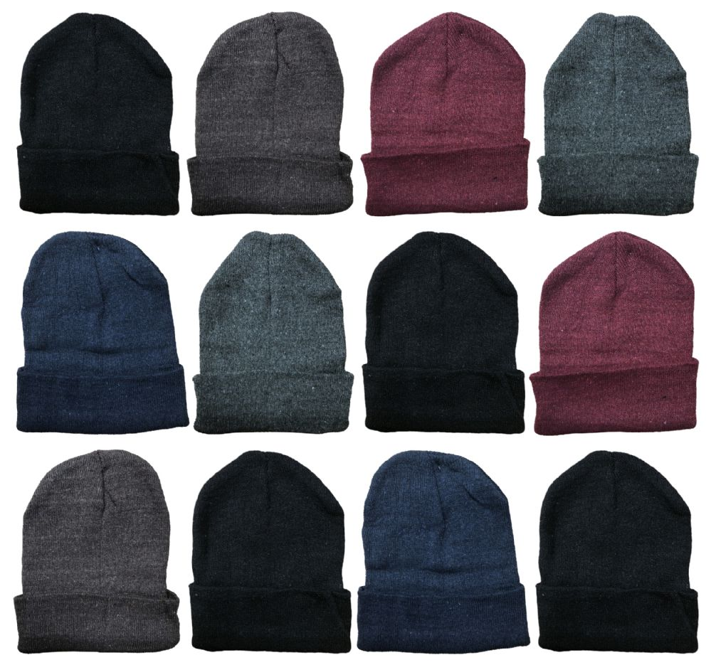 7817163e4aa Wholesale Deal On 12 Winter Toboggan Beanie Hats by excell Thermal Sport  Mens Womens