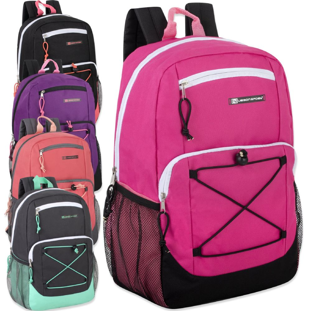 257a44adc36a Wholesale Deal On Urban Sport 18 Inch Deluxe Bungee Backpack With Padding -  Girls