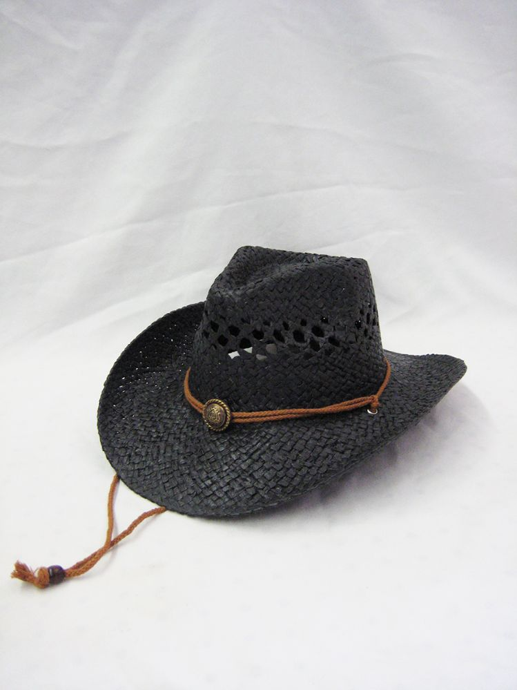 4dcc248cb4174 24 Wholesale Western Cowboy Hat In Black - at - wholesalesockdeals.com