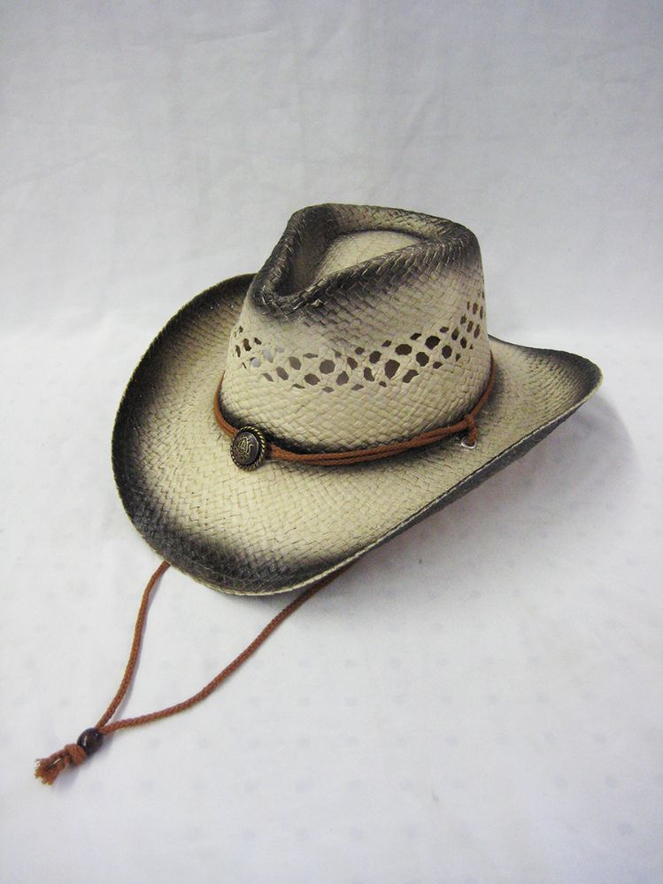 b9d320c3ab659 36 Wholesale WESTERN COWBOY STRAW HAT VENT TOP WITH TIE DOWN - at -  wholesalesockdeals.com