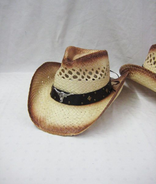 dcd89bf7fc15f 24 Wholesale Western Cowboy Hat In Beige - at - wholesalesockdeals.com