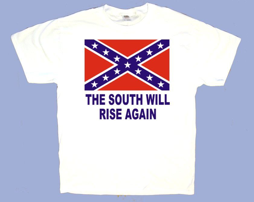 Wholesale Deal On Made by USA company white T-shirts screen printed with 2  color Rebel flag
