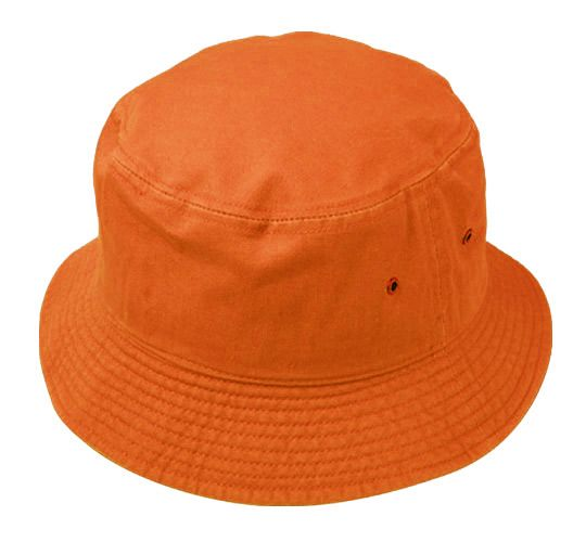 Wholesale Deal On PLAIN COTTON BUCKET HATS IN ORANGE - at -  wholesalesockdeals.com bb91243b0b9