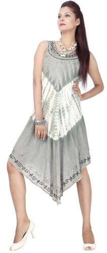 24 Wholesale Wholesale Plus Size Acid Wash Design Rayon Dresses