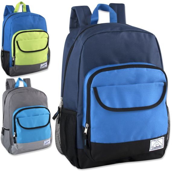 a2bea06fe1dd Wholesale Deal On 18 Inch Color Block Flap Backpack - Boys Colors - at -  wholesalesockdeals.com