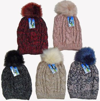 c1153a9dbc2 36 Wholesale Ski Hat With Pom Pom And Lining - at - wholesalesockdeals.com