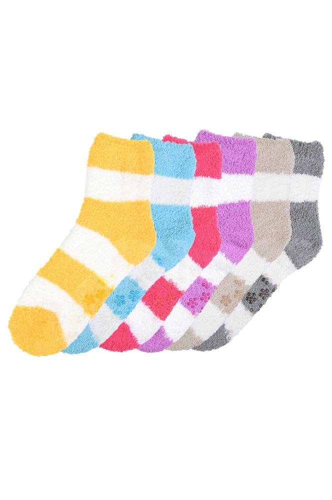 120 Wholesale Women S Plush Soft Socks With Gripper Bottom