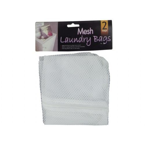72 Wholesale Mesh Laundry Bags Set Of 2 At