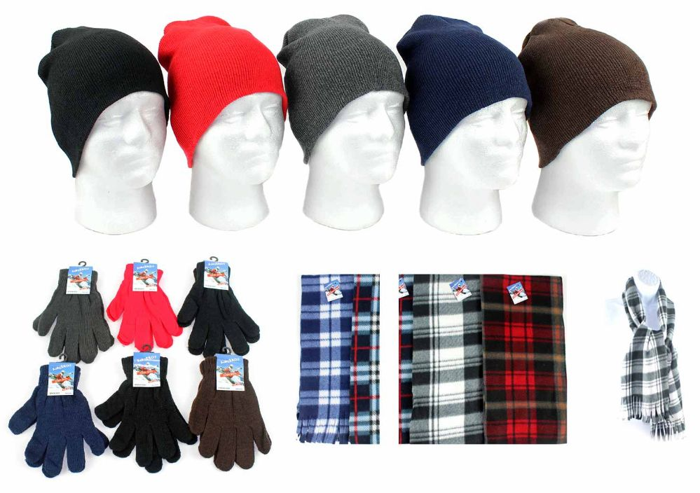 Wholesale Deal On Adult Beanie Knit Hats Magic Gloves And