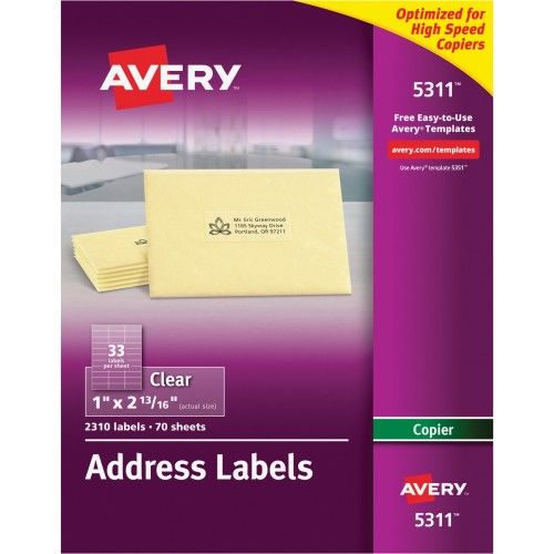 Wholesale Avery Clear Mailing Label