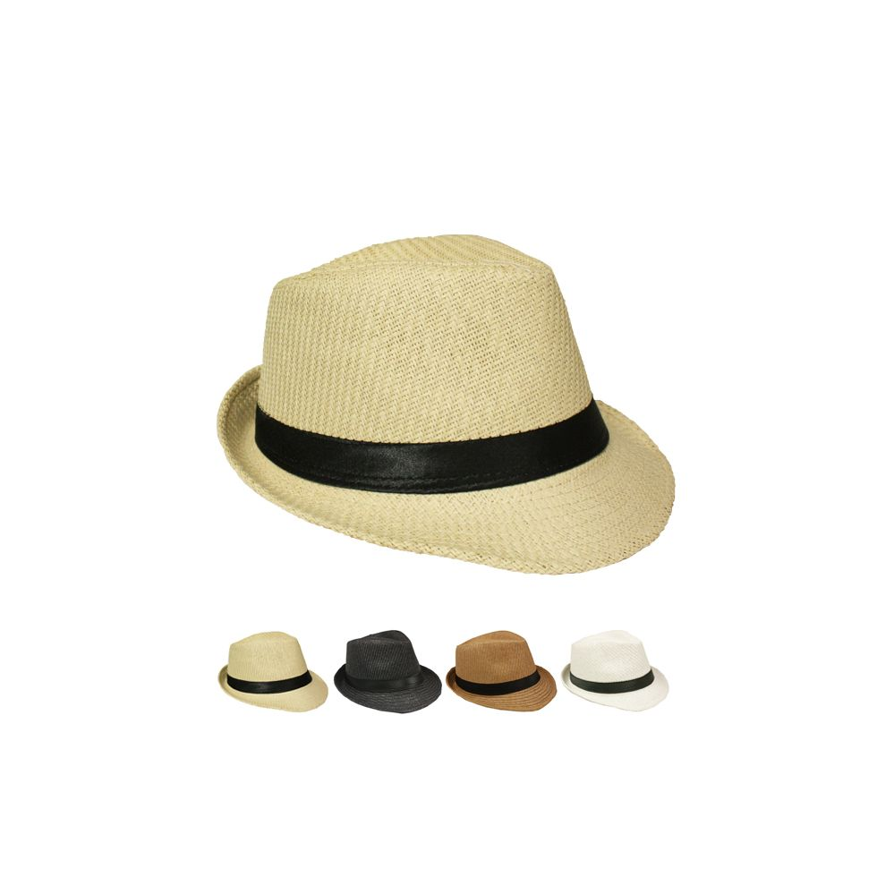 cb6302a06a7 Wholesale Deal On NATURAL STRAW FEDORA HAT IN ASSORTED COLORS - at -  wholesalesockdeals.com