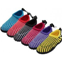"36 Wholesale Women's Sea Shell Print ""wave"" Water Shoe"