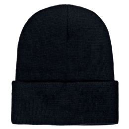 36 Wholesale Yacht & Smith Unisex Winter Warm Beanie Hats In Solid Black