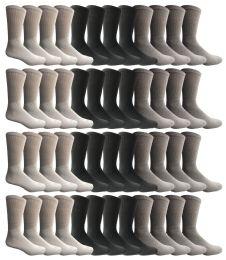 36 Wholesale Yacht & Smith Men's Sports Crew Socks, Assorted Colors Size 10-13 Bulk Pack