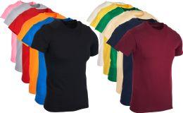 36 Wholesale Mens Cotton Short Sleeve T Shirts Mix Colors Size Small