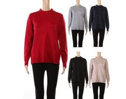 24 Wholesale Womens Long Sleeve Soft Pullover Knit Sweater