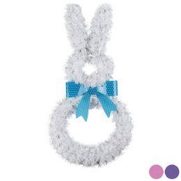 24 Wholesale Easter Bunny Shape Tinsel Decor Large Size