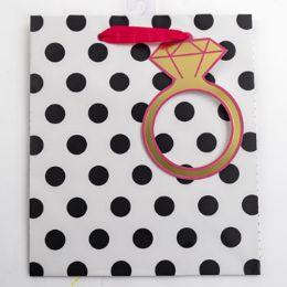 60 Wholesale Gift Bag Cub Embellished Stripes Gold Ring