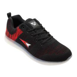 12 Wholesale Mens Casual Athletic Sneakers In Black
