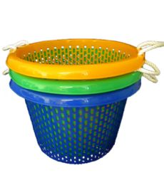 10 Wholesale 21x14 Inch Round Basket With Rope Handle