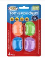 96 Wholesale Oral Fusion Toothbrush Head Cover 4 Pack