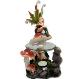 12 Wholesale Mushroom Fairy Tea Light Burner