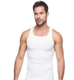 72 Wholesale Mens Cotton A Shirt Undershirt Solid White Size L