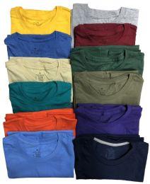 60 Wholesale Mens Cotton Short Sleeve T Shirts Mix Colors And Mix Sizes