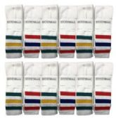 Wholesale Deal On Mens White With Stripes Tube Sock