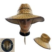 e953a4841c297 36 Wholesale WESTERN COWBOY STRAW HAT VENT TOP WITH TIE DOWN - at ...