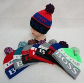 585c5389f840f 48 Wholesale Hand Knitted Fashion Hat   Scarf Set--2 Flowers